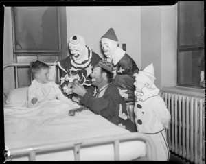 circus-clowns-visit-sick-boy-boston-public-library