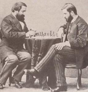 ilia-chavchavadze-and-ivane-machabeli-playing-chess